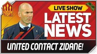 Man Utd Offer ZIDANE United Job! Man Utd News Now