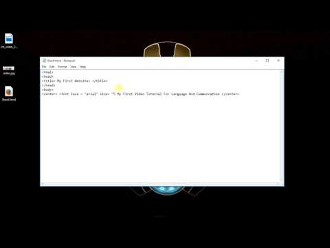 How to design a Website using HTML in Notepad (LNC Video Tutorial Assignment 2)