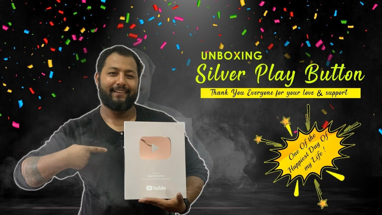 || Silver Play Button Unboxing ||