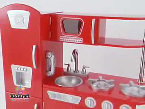 Kidkraft Uptown Espresso Kitchen 53260 and Kidkraft Red Retro ...
