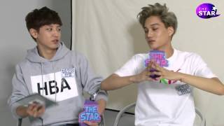 Chanyeol and Kai The Star Interview ( Russian Sub.)