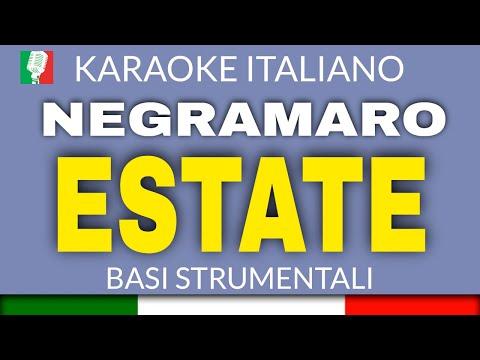 NEGRAMARO - ESTATE - BASE KARAOKE ITALIANO (STRUMENTI VERI)