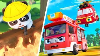 Download Super Firefighter Rescue Team | Police Car, Ambulance | Nursery Rhymes | Kids Songs | BabyBus Mp3 and Videos
