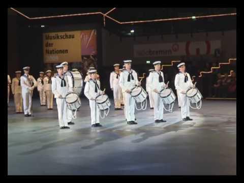 The Royal Swedish Navy Cadet Band at Bremen Musikschau der Nationen 2009 - The Drum Salute