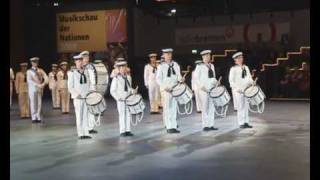 The Royal Swedish Navy Cadet Band at Bremen Musikschau der Nationen 2009 - The Drum Salute