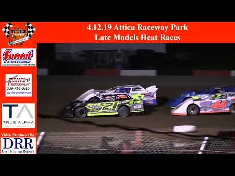 4.12.19 Attica Raceway Park Late Models Heat Races