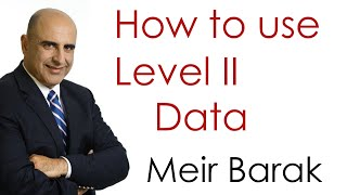 Live Day Trading - How to use level II Data - Meir Barak