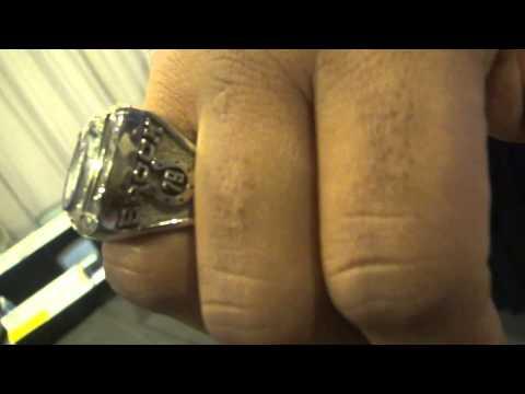 BTP Sports: Former Colts DE Raheem Brock shows off his SB ring