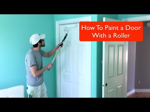 How To Paint A Door With A Roller Youtube