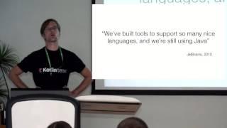 Kotlin: Разрабатываем под JVM с удовольствием. Докладчик Дмитрий Жемеров, JetBrains