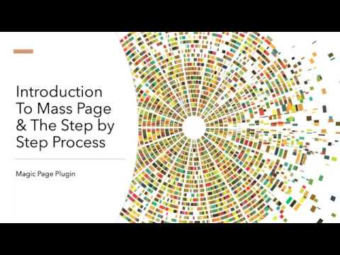 Session 1 Of 3 - Introduction To Mass Page & The Step By Step Process   Magic Page Plugin
