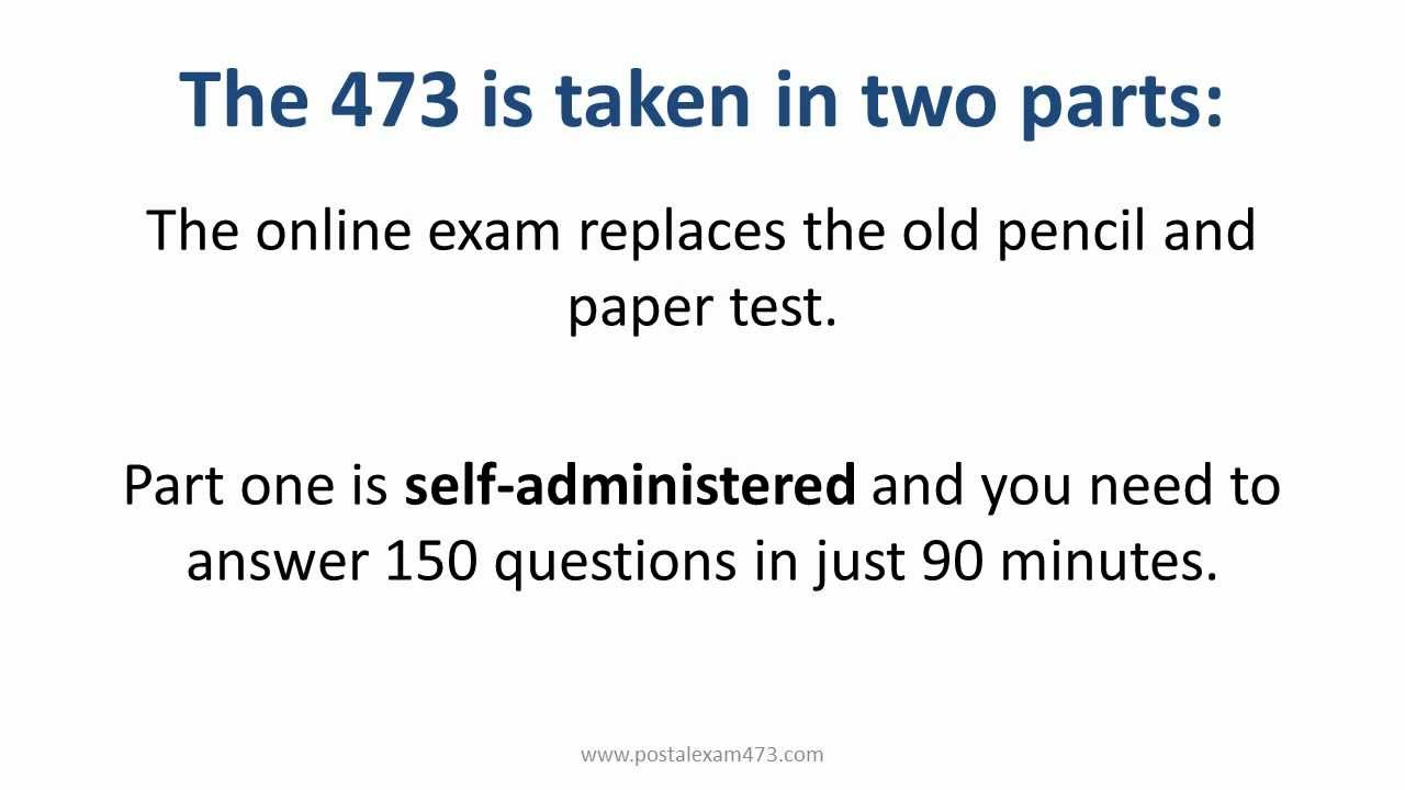 Postal Exam 473 | 473 Battery Exam - YouTube