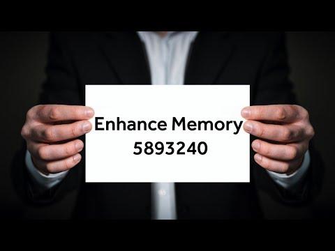 Grabovoi Numbers - Enhance Memory - 5893240