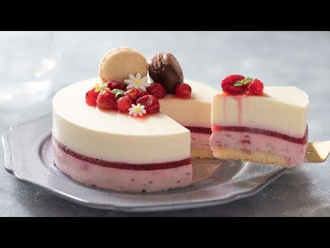 ラズベリー・レアチーズケーキの作り方 No-Bake Raspberry Cheesecake*Eggless Recipe|HidaMari Cooking