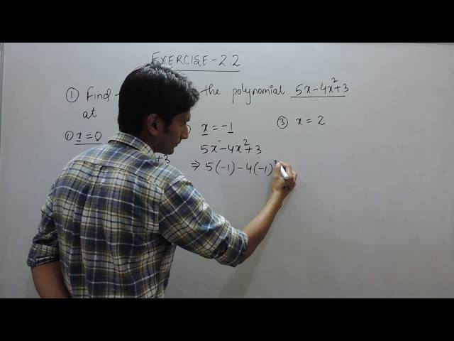 Exercise 2.2 - Question 1(i,ii,iii) NCERT/CBSE Solution for Class 9th Maths Polynomials