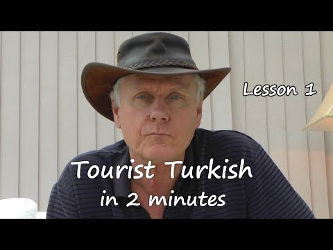 Learn Turkish in 2 minutes  lesson 1