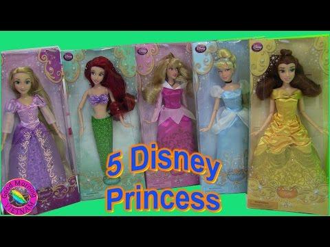Chị Bí Đỏ Mở 5 Công Chúa Disney Princess Rapunzal Aurora Ariel Belle Cinderella Doll