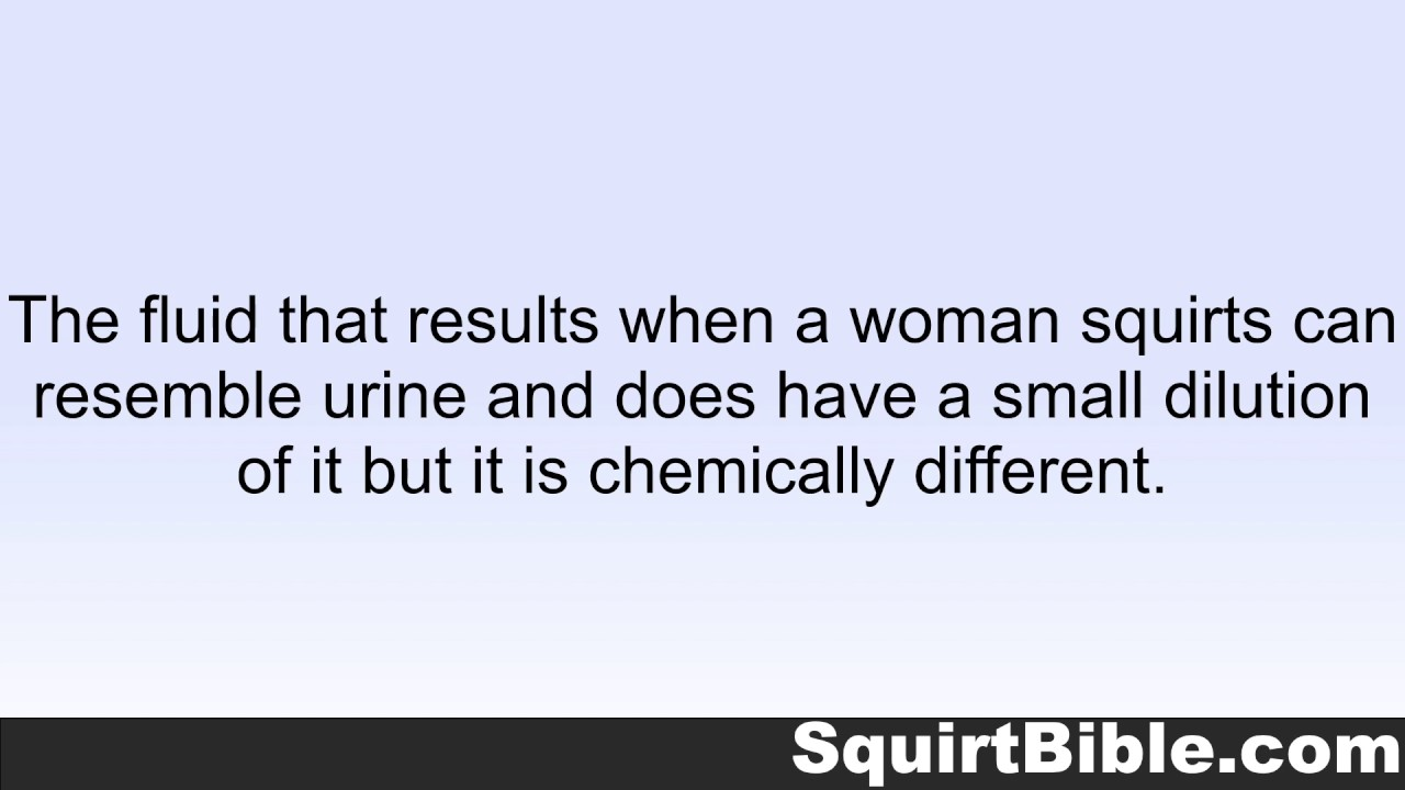 what is the fluid that women squirt