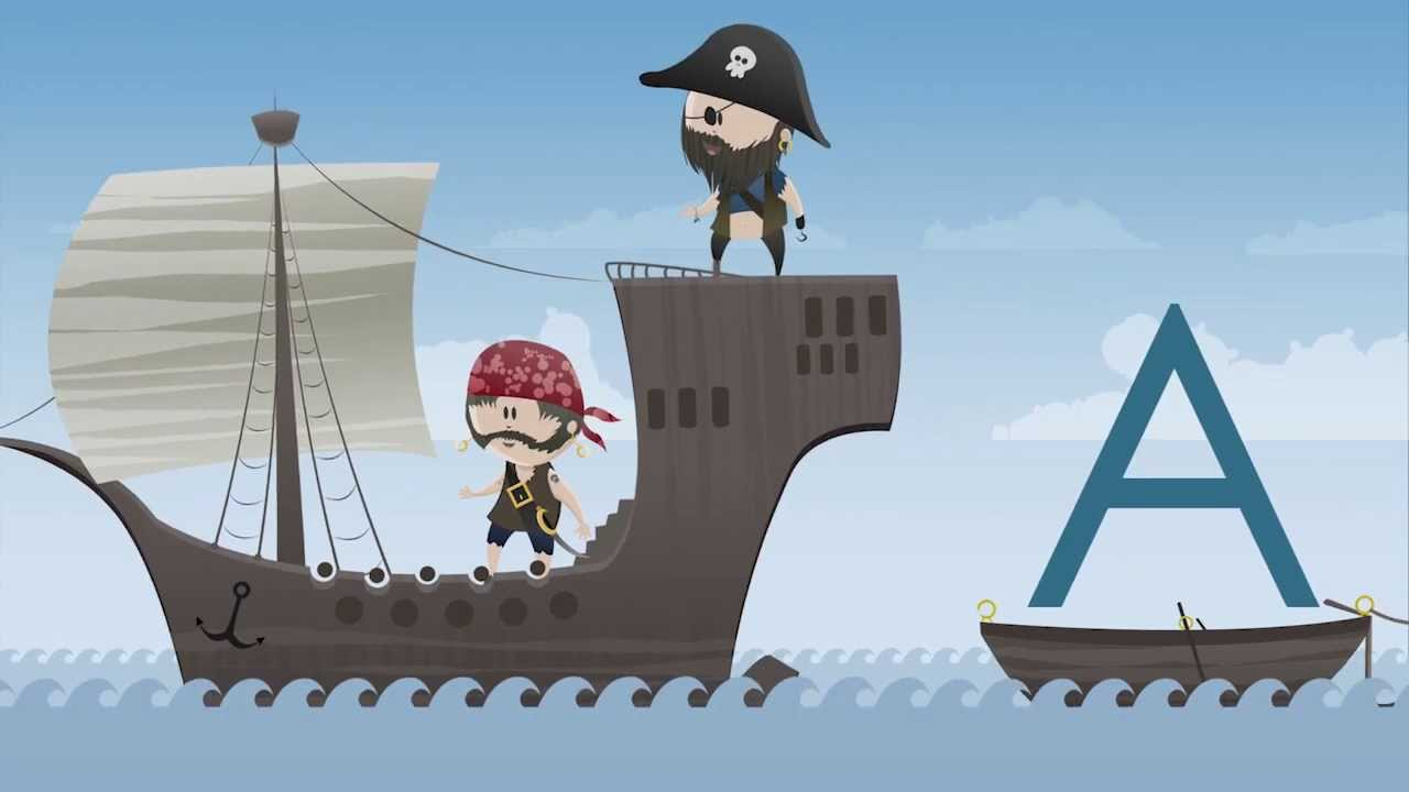Kinder lernen die ABC Buchstaben mit den ABC Piraten. - YouTube