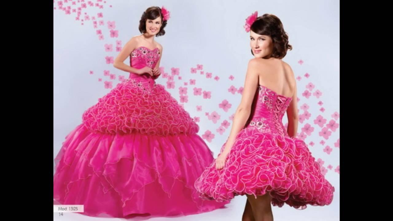 Imagenes de vestidos de 15 años desmontables - YouTube
