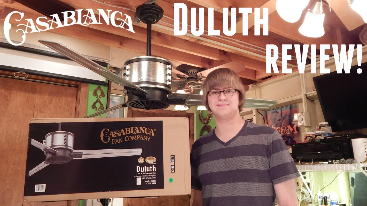 Product review casablanca duluth 60 ceiling fan youtube mozeypictures Images
