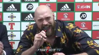 TYSON FURY DISPLAYS ANGELIC VOICE AS HE SINGS AMERICAN PIE AFTER WIN OVER FRANCESCO PIANETA