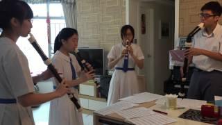 Handel  --Water music Alla Hornpipe (recorder ensemble)