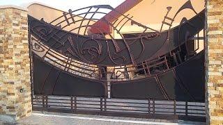 Кованые ворота для дома. Эксклюзивный дизайн!(http://simulator.org.ua Кованые ворота и заборы Художественная ковка ворот позволяет, в зависимости от пожеланий..., 2014-09-28T13:19:07.000Z)