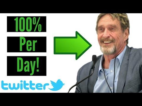 How To Make 100% Per Day In Crypto Following John McAfee!