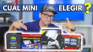 ¿ CUÁL MINI ELEGIR ? Nes mini vs SNES mini vs NEO GEO mini vs PS Classic -  Jugamer