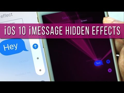 How To Send IMessage With Bubble/Screen Effect In IOS 10?