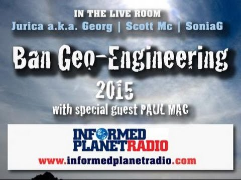 The Live Room - With guest Geo-engineering Activist Paul Mac  - 4th March 2015