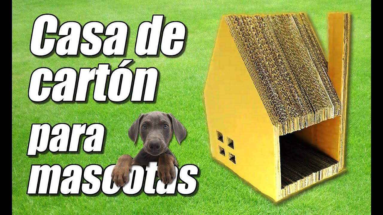 Casa juguete de cart n para mascotas c mo se hace youtube for Casas de juguete para jardin