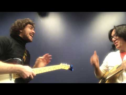 Berklee Guitar private lesson / Jamming Funky Blues with Eduardo  / Tomo Fujita