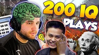 CS:GO - WHEN PROS MAKE 200 IQ PLAYS! ft. Crazy trigger discipline, Genius outplays & More!