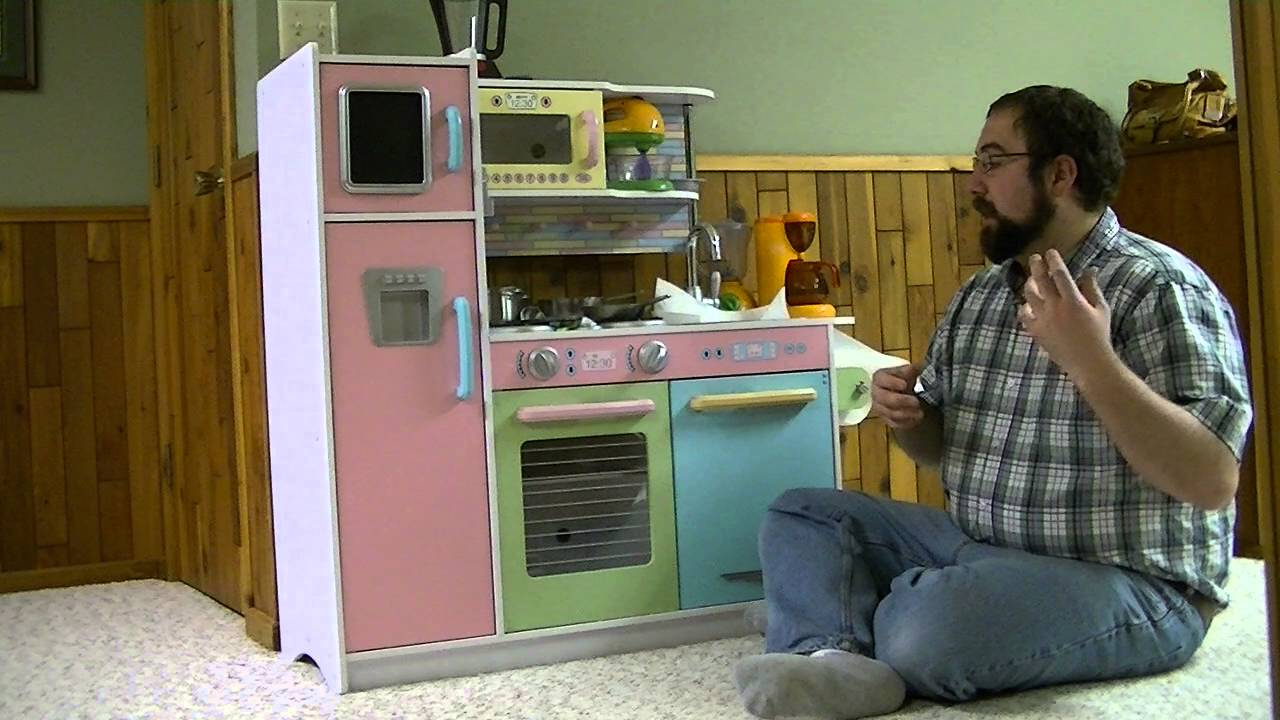 KidKraft Pastel Kitchen Set Review - YouTube