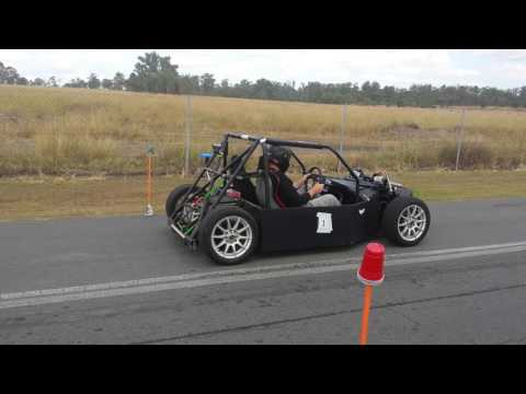 Full Charge Motorsport Electric race car in action at the khanacross 22 05 16