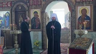 Слово митрополита Ферапонта в Воскресенском храме села Карабаново