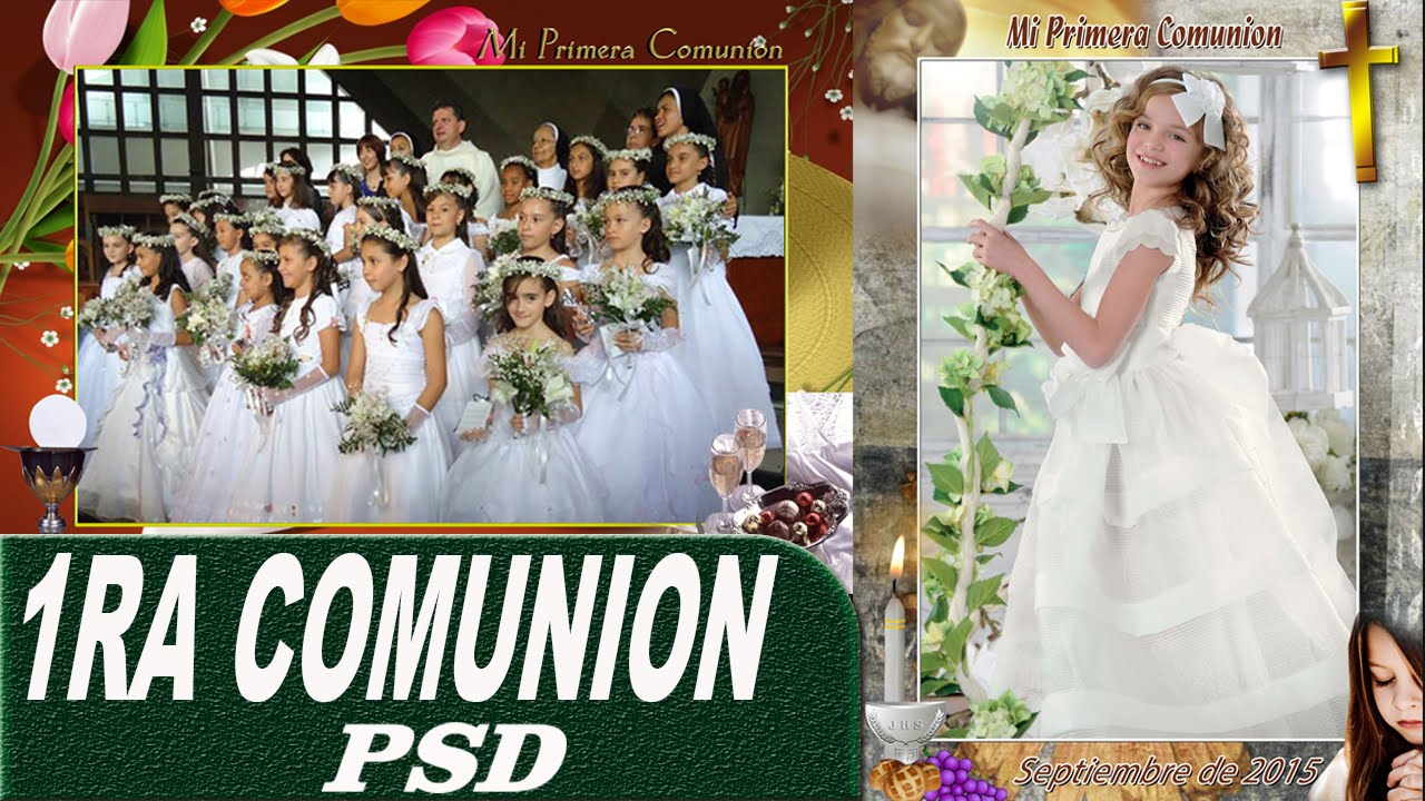 invitaciones de primera comunion en photoshop