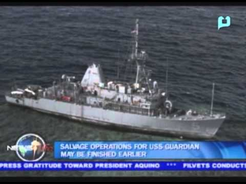 Salvage operations for USS Guardian may be finished earlier