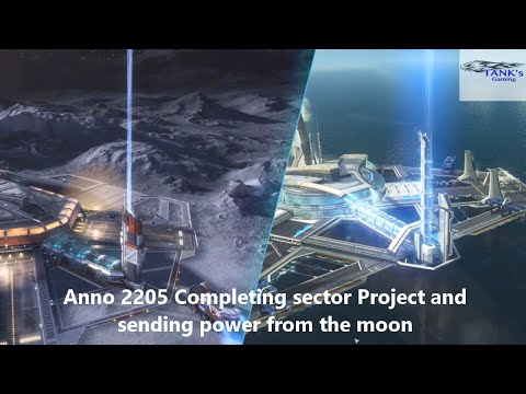 Anno 2205 Completing Hydro power Dam sector project and sending power from the moon