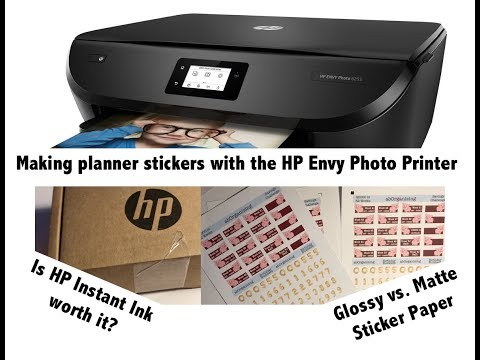 Printer For Making Planner Stickers | HP Envy Photo 6255 Review | Instant Ink Review