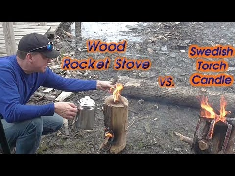 Swedish Torch vs. Wood Rocket Stove, The Fire Challenge