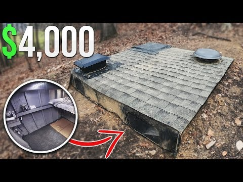 $4000 Homemade Underground Fort Bunker