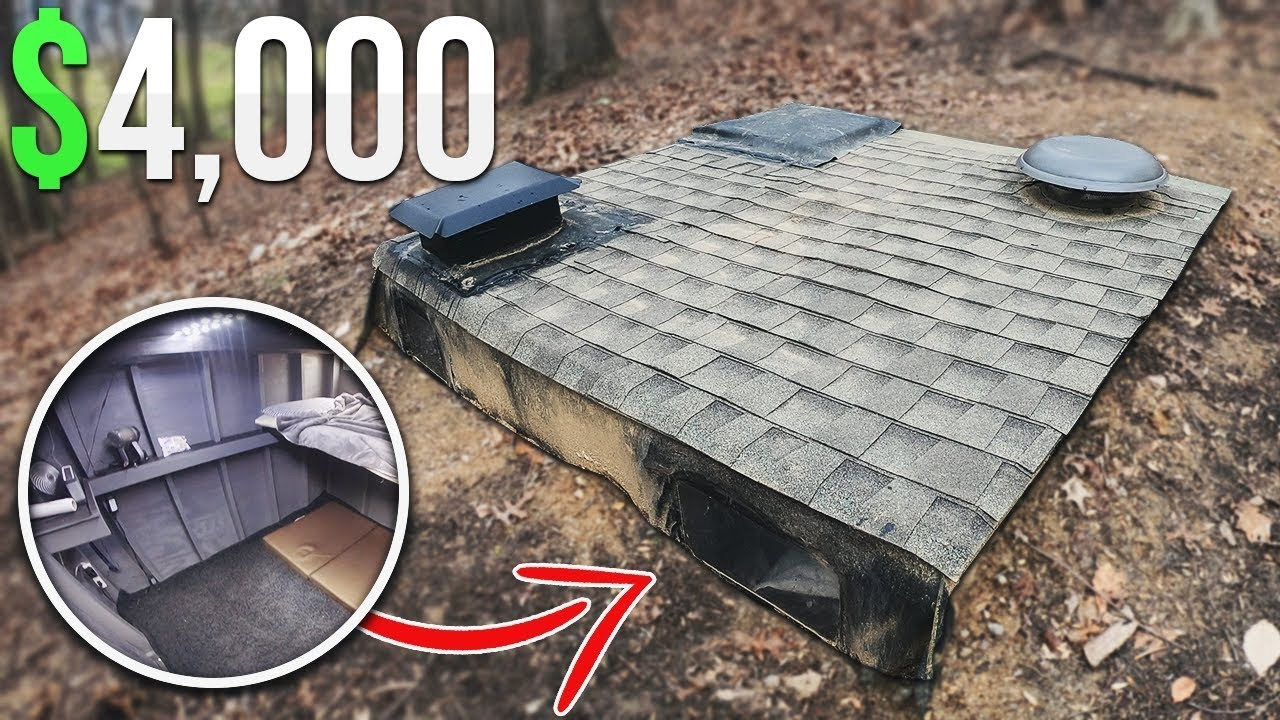 $4000 Homemade Underground Fort Bunker