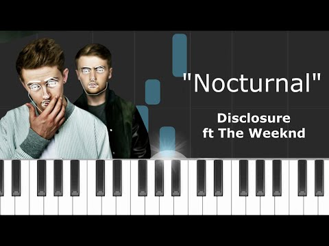 Disclosure - ''Nocturnal'' Ft The Weeknd Piano Tutorial - Chords - How To Play - Cover