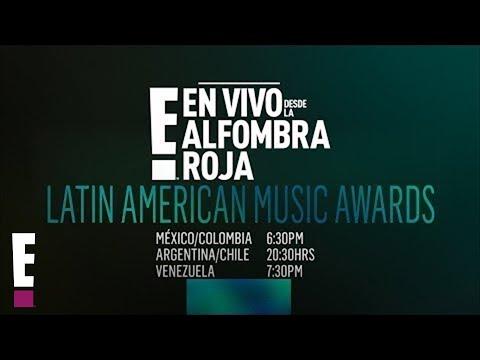 En vivo desde la Alfombra Roja E! de los Latin American Music Awards