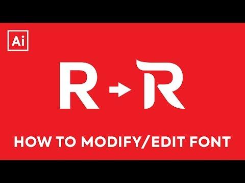 Illustrator CC Tutorial - Editing Letters / Modifying Font thumbnail
