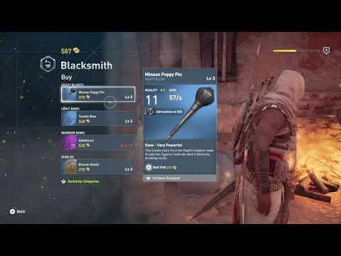 Assassin's Creed Origins Choose A Weapon At Blacksmith Shop