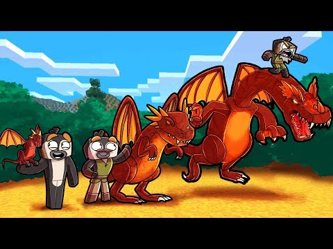 Minecraft Dragons - BABY DRAGON ALL GROWN UP!